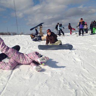 新生ホームサービススノーボードクラブ第2回目の活動風景