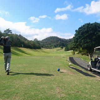 ゴルフ部部長のティーショット