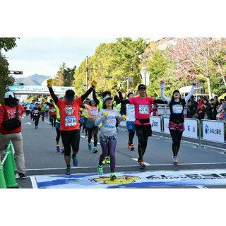 昨年の神戸マラソン_ゴール地点