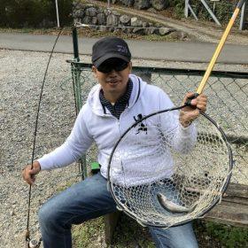 管理釣り場でトラウト