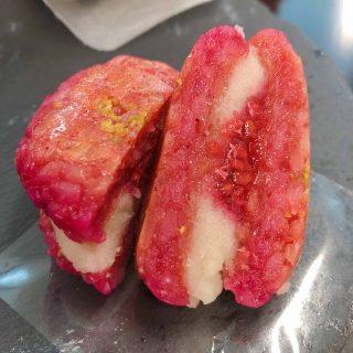 おはぎバーガー木苺