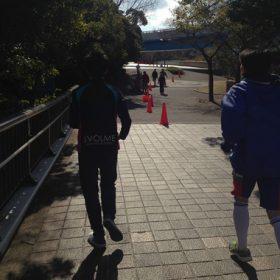 新生ホームサービスランニング部が評判の「神戸バレンタイン・ラブラン」コース下見&体育館レクリエーション
