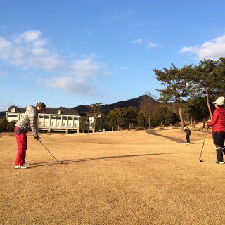 ゴルフの指導風景