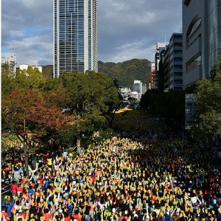 昨年の神戸マラソン_スタート地点